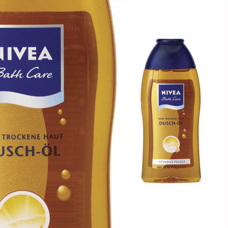 label nivea bath care