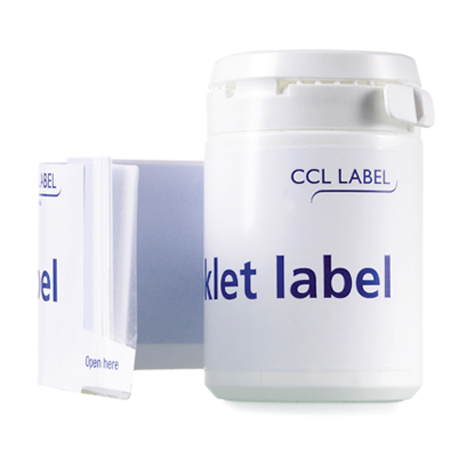 labels on medication phial