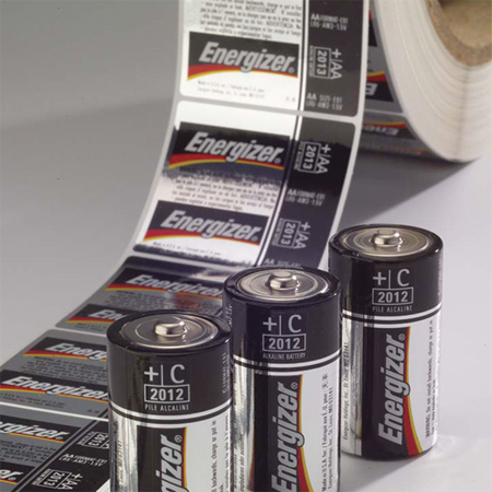 labels for batteries Energizer