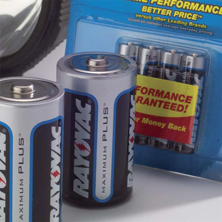 label on the battery Rayovac