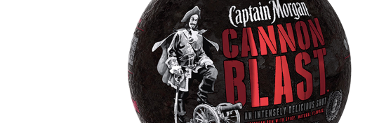 EXPLOSIVE PACKAGING THE CAPTAIN MORGAN CANNON BLAST