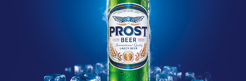 Debut with washoff labels: PROST beer